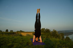 Yoga: Strength, harmony and tranquility Stock Photography
