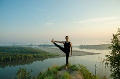 Yoga: Strength, harmony and tranquility Royalty Free Stock Image
