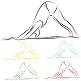 Yoga Stretch Line Drawing Royalty Free Stock Images