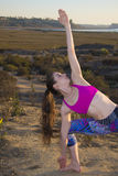 Yoga Stretch in Nature Royalty Free Stock Photo