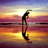 Yoga stretching exercises Stock Images