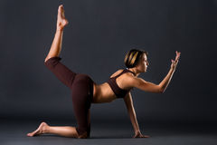 Yoga in a studio Stock Photo