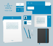 Yoga studio branding set Royalty Free Stock Image