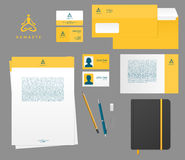 Yoga studio branding set Stock Image