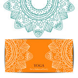 Yoga studio gift card template Royalty Free Stock Photo