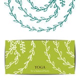 Yoga studio gift card template. Gift card template for studio or class yoga retreat. Vector  pattern Stock Photo