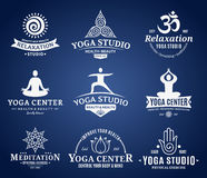 Yoga Studio Labels, Icons and Design Elements Stock Photography
