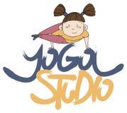 Yoga studio. lettering. Lettering yoga studio. yoga lifestyle. logotype stock illustration