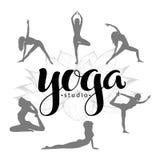 Yoga studio logo Royalty Free Stock Photo