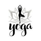 Yoga studio logo Royalty Free Stock Photography