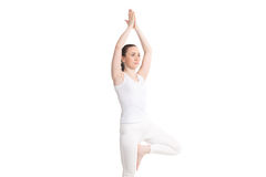Yoga in studio Royalty Free Stock Photo