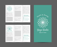 Yoga Studio Vector Brochure Template Stock Photography