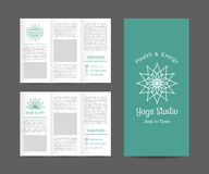 Yoga Studio Vector Brochure Template Royalty Free Stock Images