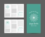 Yoga Studio Vector Brochure Template Stock Photography