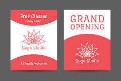 Yoga Studio Vector Brochure Template Stock Image