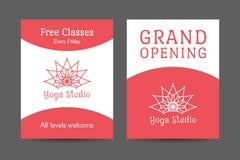 Yoga Studio Vector Brochure Template Stock Image