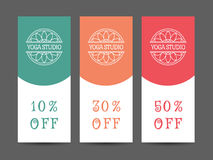 Yoga Studio Vector Discount Coupon Template Royalty Free Stock Images