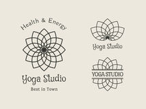 Yoga Studio Vector Logo Template Set Stock Photo
