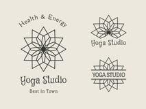 Yoga Studio Vector Logo Template Set Stock Photography