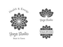 Yoga Studio Vector Logo Template Set Stock Images