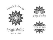 Yoga Studio Vector Logo Template Set Stock Photo