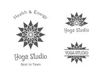 Yoga Studio Vector Logo Template Set Stock Images