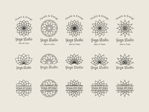 Yoga Studio Vector Logo Templates Set Royalty Free Stock Photos