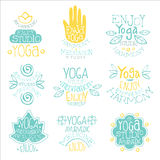 Yoga Studio Vintage Stamp Collection Royalty Free Stock Photo