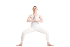 Yoga stupasana pose Stock Photography