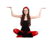 Yoga style Royalty Free Stock Photo