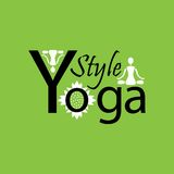 Yoga style logo on a green background design Royalty Free Stock Photography