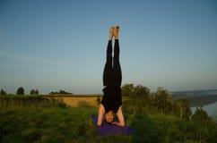 Yoga: Styrka, harmoni och lugn Arkivbild