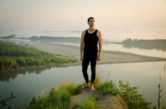 Yoga: Styrka, harmoni och lugn Royaltyfri Foto