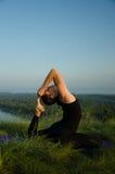 Yoga: Styrka, harmoni och lugn Fotografering för Bildbyråer