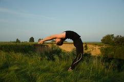 Yoga: Styrka, harmoni och lugn Royaltyfri Fotografi
