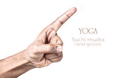 Yoga Suchi mudra Royalty Free Stock Photos