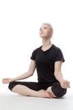 Yoga sul pavimento Fotografie Stock