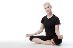 Yoga sul pavimento Immagine Stock Libera da Diritti