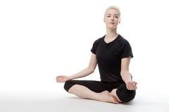 Yoga sul pavimento Fotografia Stock Libera da Diritti