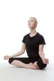 Yoga sul pavimento Immagine Stock