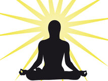 Yoga sun royalty free illustration