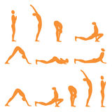 Yoga sun salutation Stock Image