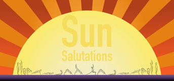 Yoga sun salutation pose. Stock Image