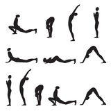 Yoga sun salutation. Stock Photography