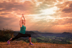 Yoga sun salutation Royalty Free Stock Photo