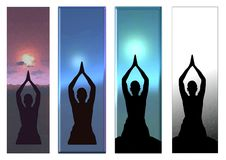 Yoga sun salute Border Background Stock Photography