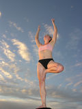 Yoga Sunset 04 Stock Photo