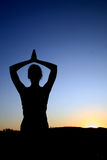 Yoga sunset Stock Photo