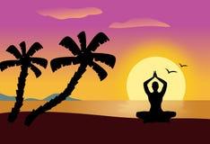 Yoga at Sunset Royalty Free Stock Image