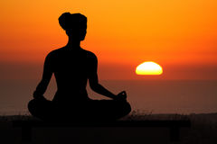 Yoga sunset Royalty Free Stock Photography